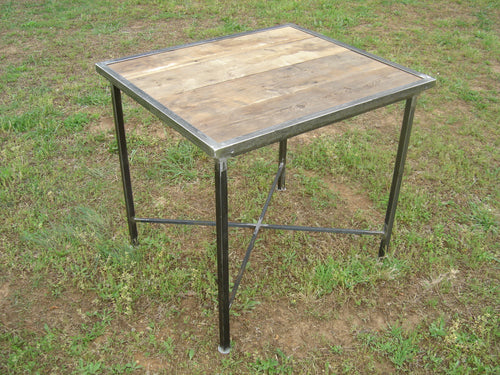 """Reclaimed Wood and Iron Table"" #27 James McGee Iron Designs"