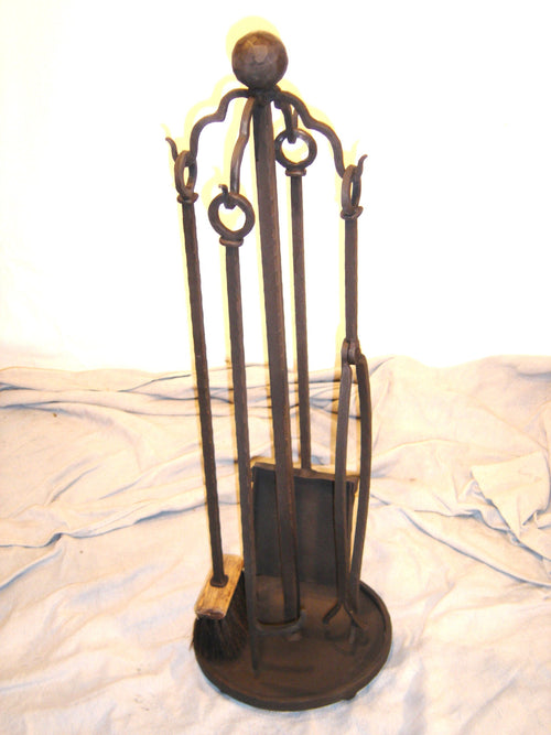 """Fireplace Tool Set"" #3  James McGee Iron Designs"