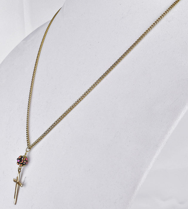 """Vintage 14k Gold Plated Cross"" ReviveAmor Lacy Schoen, designer"
