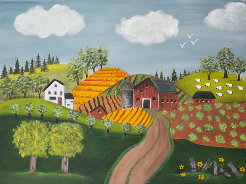 """Farm in Summer Print""  Gayle Dahl, artist"