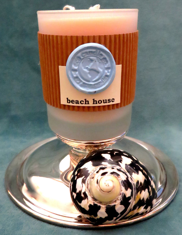 "7oz Frosted Tumbler Candle ... ""beach house"""