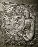 """Buddha"" Bas Relief"" Jacquelyn Smith Windbigler, artist"