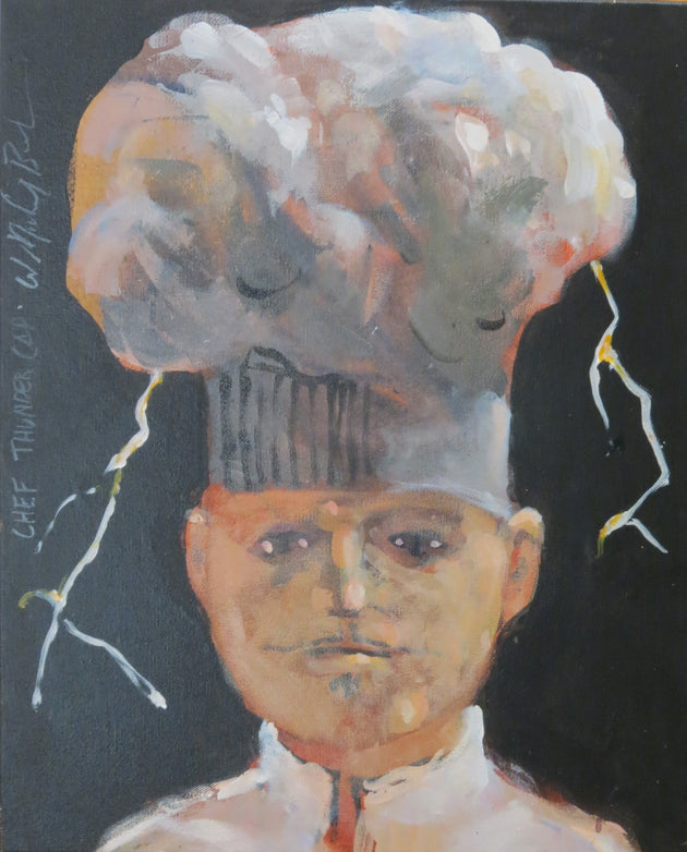"SOLD!!!   ""Chef Thunder Cap"" W. Michael Bush, artist"