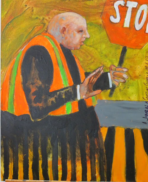 """SCOTUS Crossing Guard"" W. Michael Bush, artist"