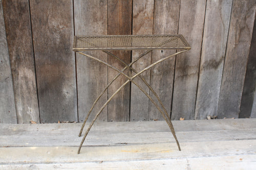 """Rectangle Side Table"" #6583  James McGee Iron Designs"