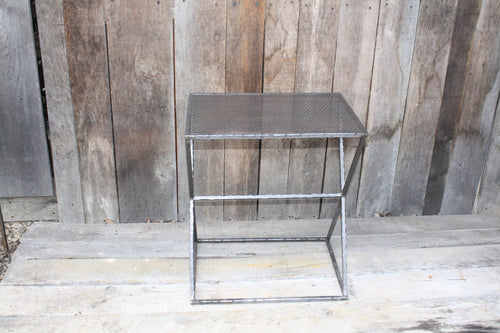 """Rectangle Side Table"" #6590  James McGee Iron Designs"