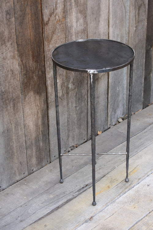 """Round Side Table"" #6594  James McGee Iron Designs"