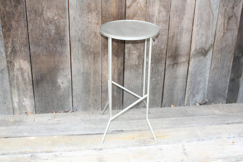 """Round Side Table"" #6596  James McGee Iron Designs"