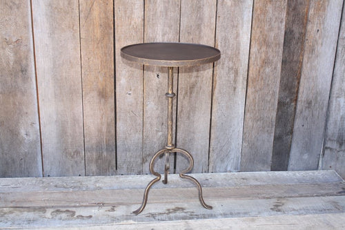 """Round Side Table #T113"" James McGee Iron Designs"