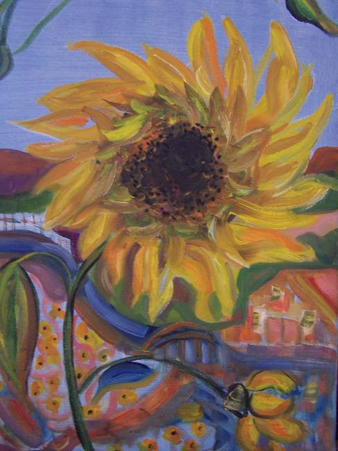 """Sunflower Bloom"" Karen J. Lee, artist"