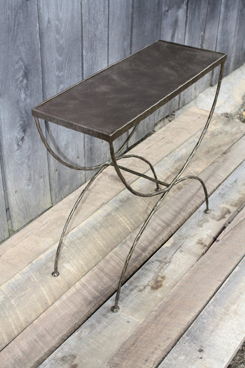 """Iron Side Table"" #111      James McGee Iron Designs"