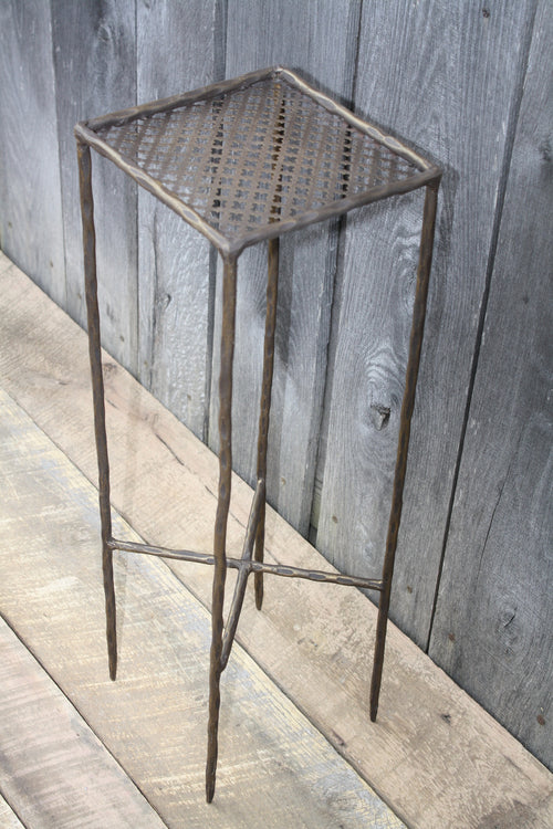 """Square Side Table"" #115   James McGee Iron Designs"