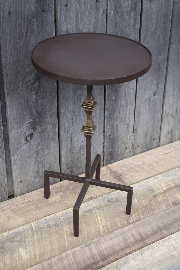 """Round Side Table"" #117  James McGee Iron Designs"
