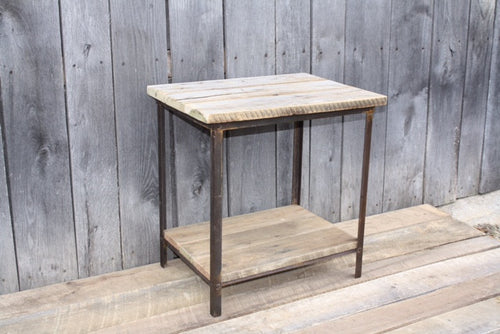 """Reclaimed Wood and Iron Table"" #118 James McGee Designs"