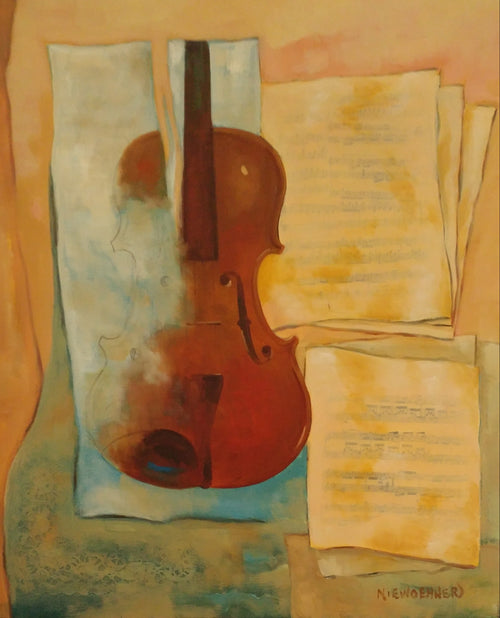 """Unfinished Violin""         Ev Niewoehner, artist"
