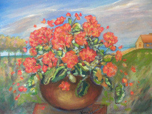 """Cottage Row Geranium"" Karen J. Lee, artist"