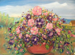 """Cottage Row Pansies"" Karen J. Lee, artist"