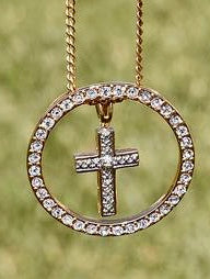 """Vintage Cross w/Eternity Circle"" ReviveAmor Lacy Schoen"