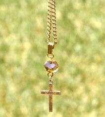 """Vintage 12k Gold Plated Cross"" ReviveAmor Lacy Schoen, designer"