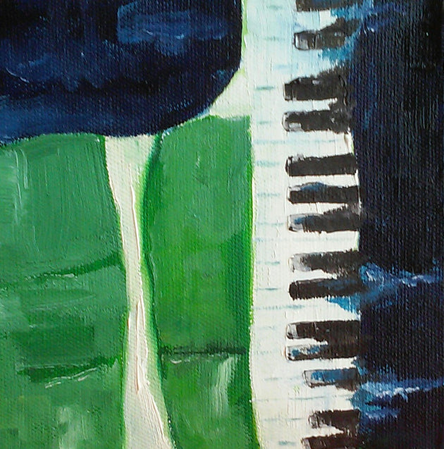 """Piano in Abstract""  Ev Niewoehner, artist"