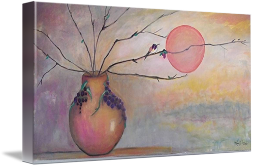 """Vineyard Hummingbird"" Print on Canvas   Karen J. Lee, artist"