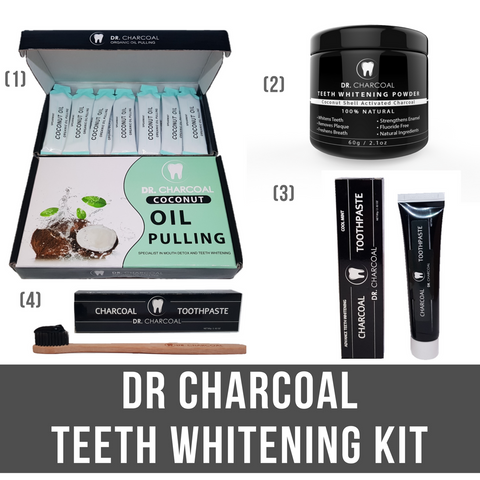 Premium Teeth Whitening Kit by Dr Charcoal
