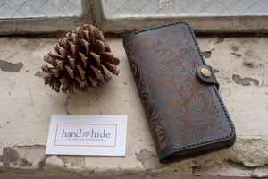 Hand and Hide custom leather phone wallets