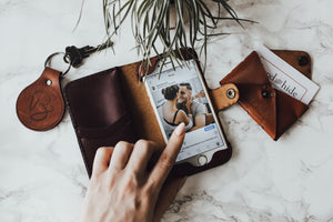 Hand and Hide Phone Wallet Case Made from Real Leather