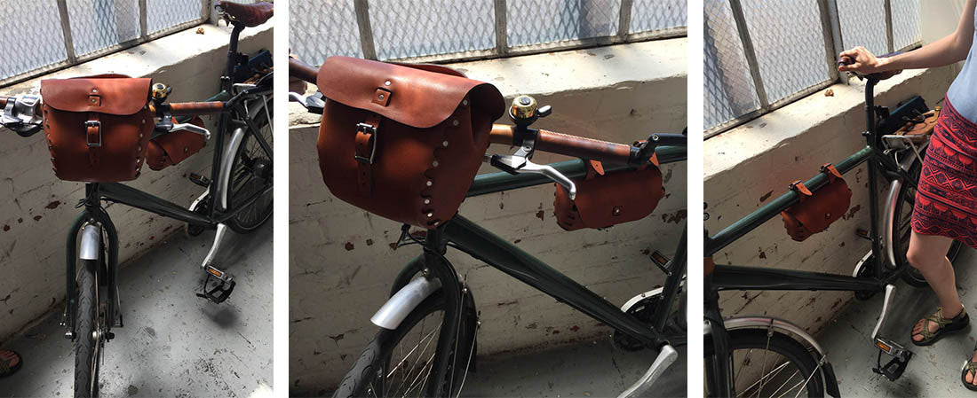 Hand and Hide Leather Bicycle Bag