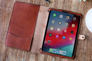 All leather tablet folio case for iPads, Kindles, Galaxy Tabs and more