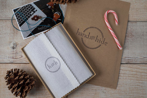 Hand and Hide New Leather Goods Packaging for the Holidays
