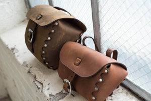 Hand and Hide Custom Leather Bike Bags and Travel Bags