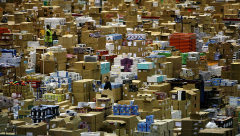 Interior of Amazon Warehouse
