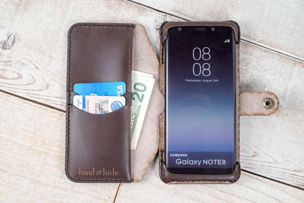 Hand and Hide leather Samsung Galaxy Note 9 Flex Wallet Case