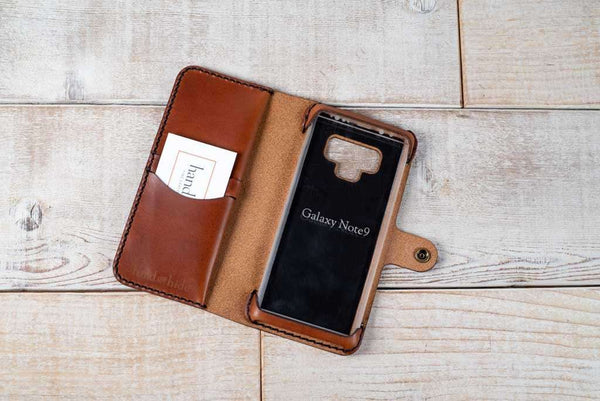 Hand and Hide leather Samsung Galaxy Note 9 Custom Wallet Case