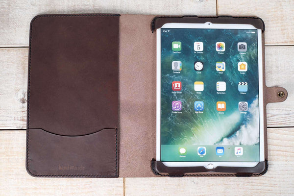 Hand and Hide iPad Pro 10.5 Leather Tablet Case | Dark Chocolate
