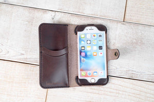 iPhone 7 or 8 Leather Phone Case | Dark Chocolate