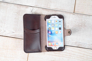 Hand and Hide iPhone 7 or 8 Leather Phone Case | Dark Chocolate