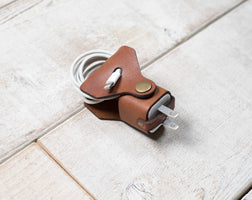 Hand and Hide leather iPhone Charger Wrap