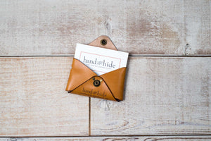 Hand and Hide Leather Business Card Case
