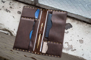 Hand and Hide leather Travel Folio