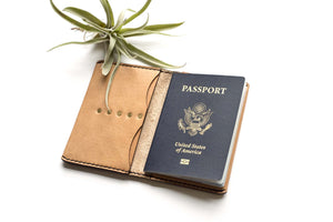 Hand and Hide Leather Passport Cover