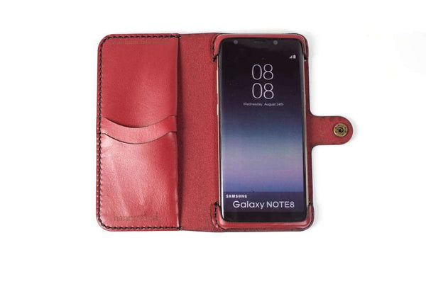 Hand and Hide leather Samsung Galaxy Note 8 Custom Wallet Case