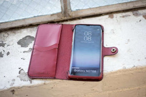 Hand and Hide Samsung Galaxy Note 8 Leather Phone Case in Red