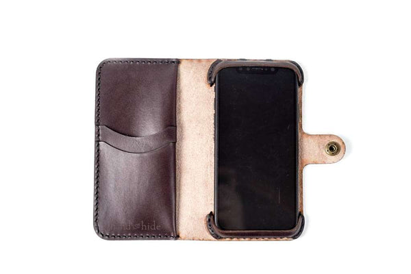 Hand and Hide leather Motorola One / P30 Play Custom Wallet Case