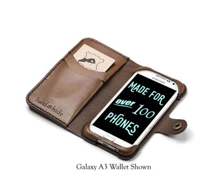 Galaxy S3 Leather Wallet Case - No Plastic - Free Inscription - Hand and Hide LLC  - 1