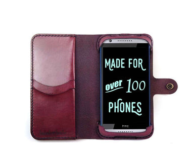 HTC Desire 820 Custom Wallet Case - Phone Wallet - Hand and Hide LLC