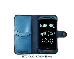HTC One X9 Leather Wallet Case - Free Inscription - Hand and Hide LLC  - 1