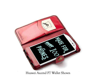 Huawei Ascend Mate 7 Custom Wallet Case - Phone Wallet - Hand and Hide LLC
