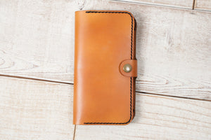 Hand and Hide iPhone 7 Plus or 8 Plus Leather Phone Wallet | English Tan